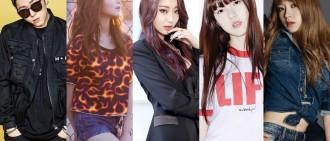 有韓網友列出K-POP組合中人氣最高和最低的成員差別