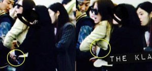 f(x) Krystal 在機場突然被fans擁抱