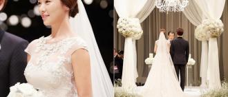 黃靜茵婚禮現場照公開 優雅氣質散發迷人光彩