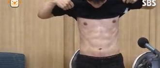 呂珍九節目秀腹肌 展結實好身材