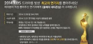 KBS 演技大賞2014直播