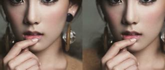 歌迷利用Photoshop改變當紅女偶像眉毛後變得更漂亮