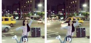 宋茜公開搞笑自拍 「大街上的女神經!」
