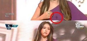 Girl's Day敏雅舞台装胸口痕迹是?