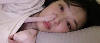 雪莉今日更新SNS 與愛貓一起秀恩愛