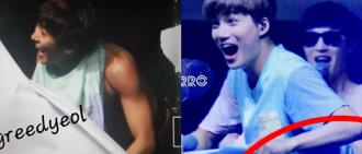 """EXO在最近的澳門演唱會體驗舞台""""走光"""""""