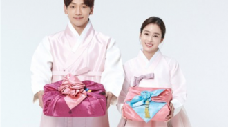 Rain金泰希夫妻合體拍宣傳照 穿粉色韓服甜蜜蜜