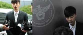 對記者提問一律不答 Roy Kim警署受查向國民道歉