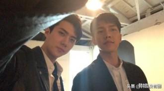 """EXO吳世勛認證李昇基""""應援咖啡車"""",兩人因《犯人就是你》結緣"""