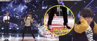 BTS V 穿著12CM高跟鞋表演「I Need U」