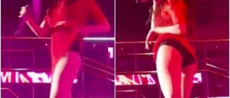 泫雅舞台上掀起裙擺,直接露出屁股!飯拍視頻韓網熱傳