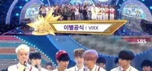 VIXX憑借「離別公式」橫掃各大音樂排名電視節目