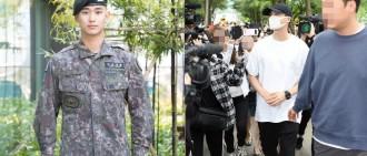 朴炯植通過防衛兵考試入伍 金秀賢下月退伍