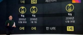 韓國年紀太難算! 1人至少3種年齡「防彈V出生3天就2歲」