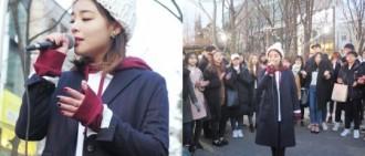 Ailee新曲回歸在即 弘大驚喜街頭演出