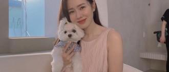 39歲孫藝珍近照狀態超好 抱愛犬工作笑容甜