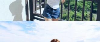 T-ara 孝敏於濟州到盡顯完美身材曲線。